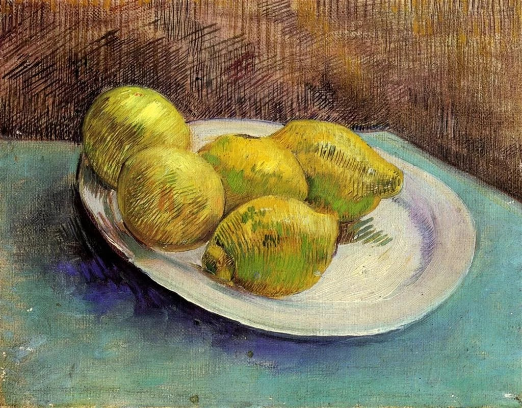 Still-life-with-lemons-on-a-plate-1887