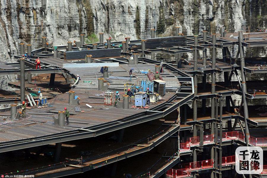 songjiang-quarry-hotel-construction