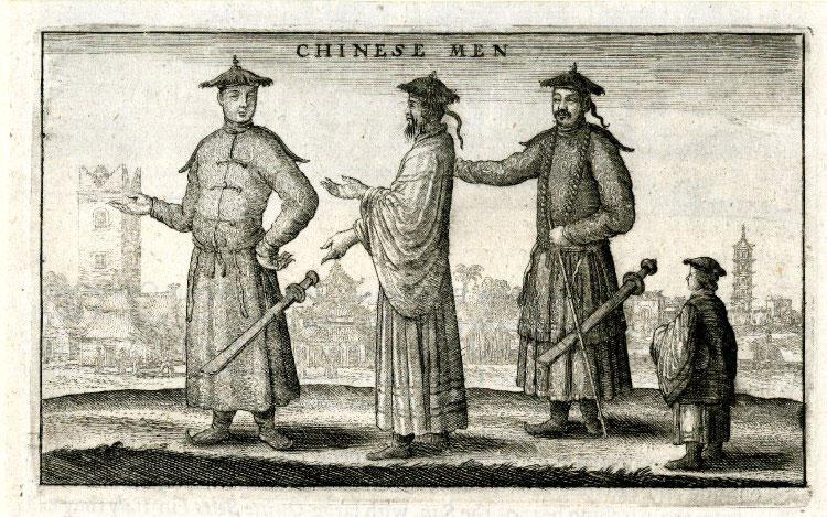 Chinese men conversing