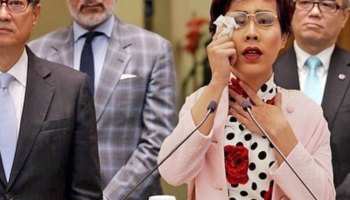 Carrie Lam cries during press conference_China plans to replace Carrie Lam