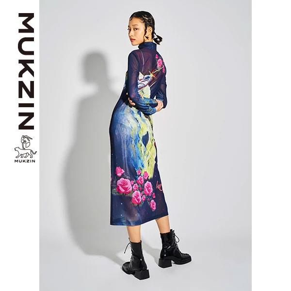 Mukzin-Designer-Brand-Cartoon-Print-Dress--MONSTER-SWEETHEART