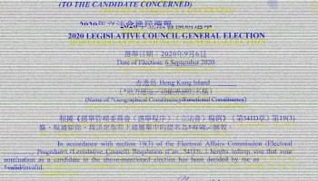 2020 Hong Kong Legislative Council election