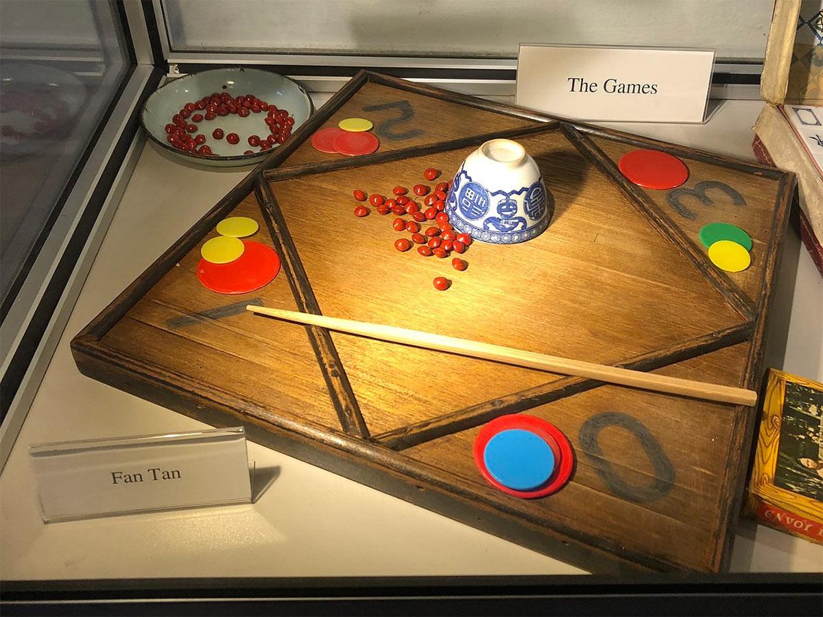 Game of Fan Tan at the Han Chin Pet Soo Museum in Ipoh, Malaysia