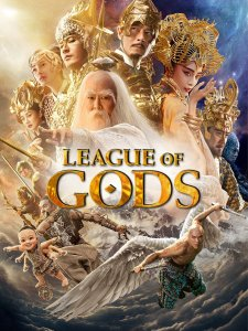 """Poster for the movie """"League of Gods"""""""