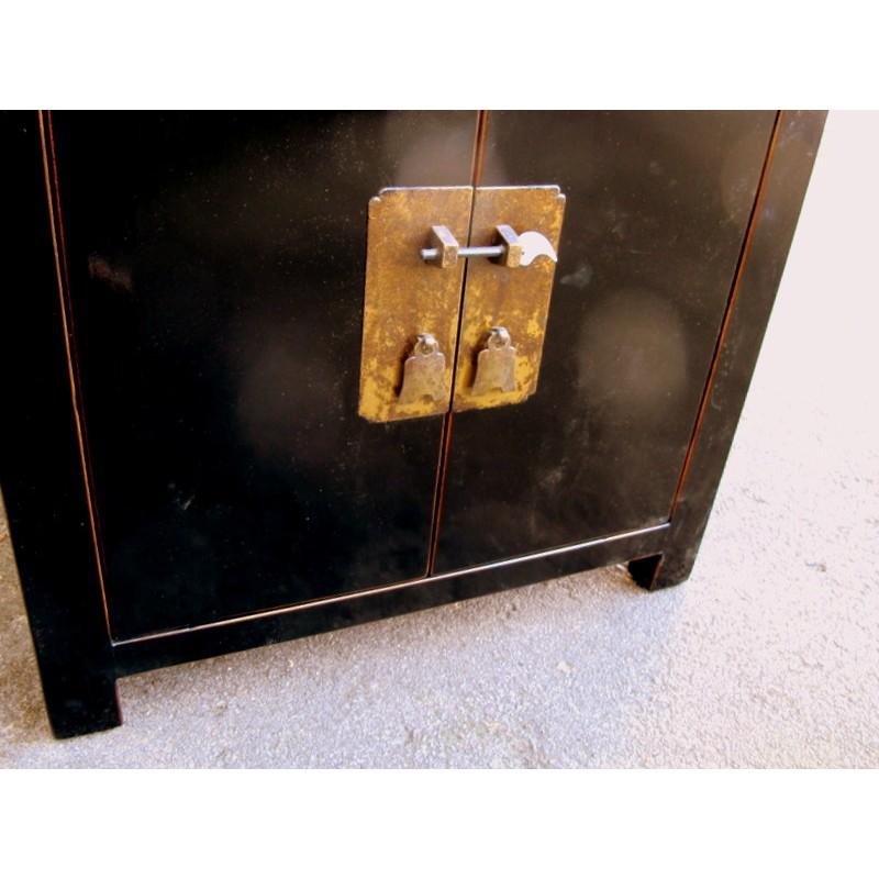 petit meuble chinois noir 60 cm
