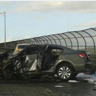 本周日 美洲大桥交通事故被封路