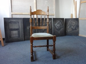 The chair Meng Huang sent to Sweden.
