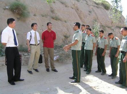In Shaaxi. From left: Gao Zhisheng, Li Fangping, and Teng Biao. Xu Zhiyong was taking the photo.