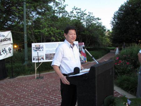 吴建民摄于2015,6,4华盛顿纪念六四26周年活动上