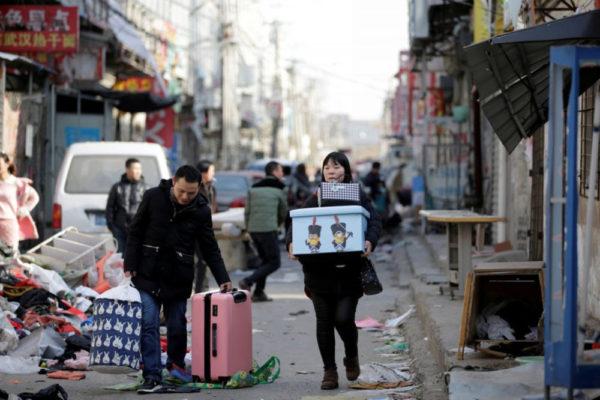 Beijing expulsion, street