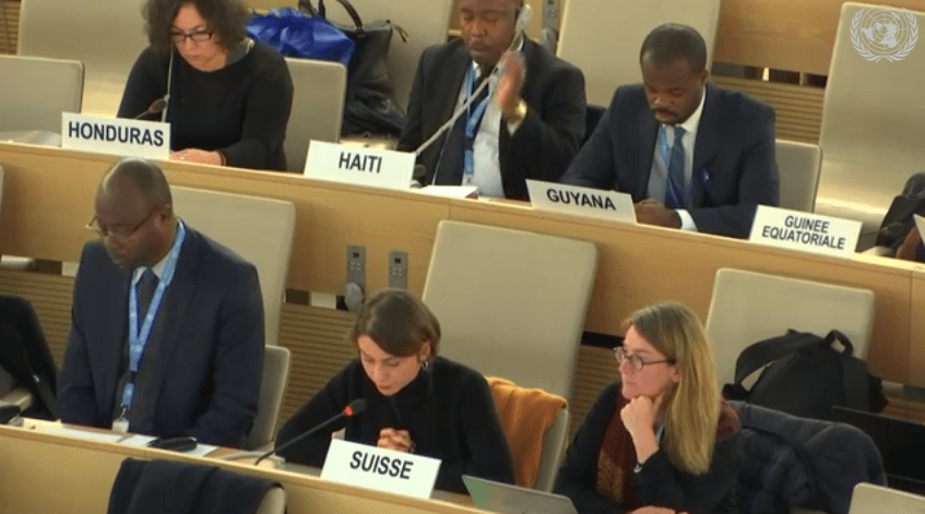 UPR session, Nov 2018, Suisse