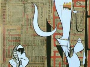 """""""Purgatorio y """"El Chino central"""", pinturas de Ramon Roig"""