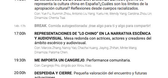 Mesa redonda «Representaciones de «lo chino» en la narrativa escénica y audiovisual.
