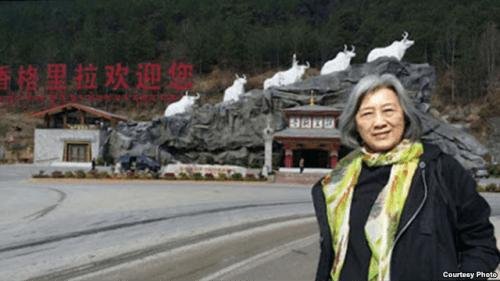 2016年3月在两会期间高瑜被送到云南旅游(王荔蕻 推特)