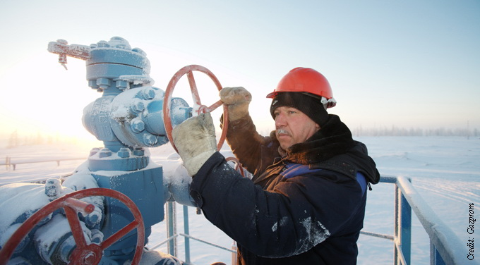 Gazprom man piepleines winter