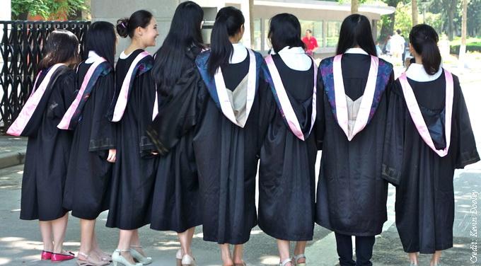 female chinese university graduation