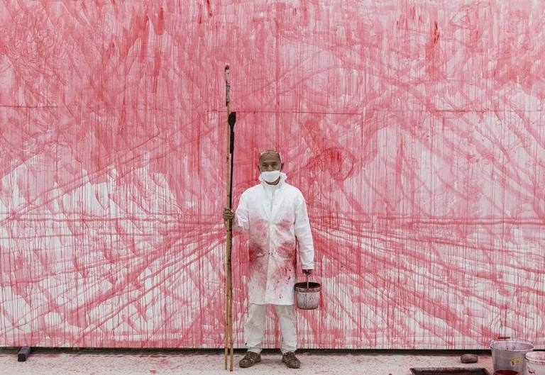 Zhang Huan's red requiem to the Covid-19 dead in China