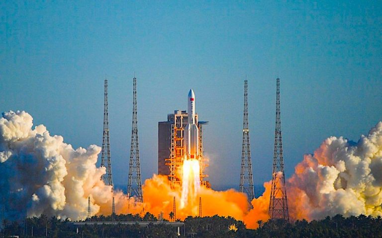 China's space station rocket hurtles 'out of control'