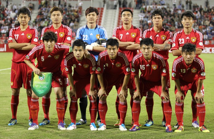 The Chinese national soccer team, pictured in 2011.