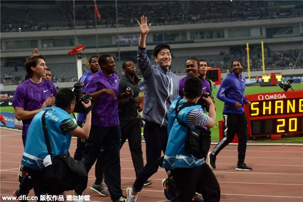 Emotiva despedida de la estrella del atletismo de China