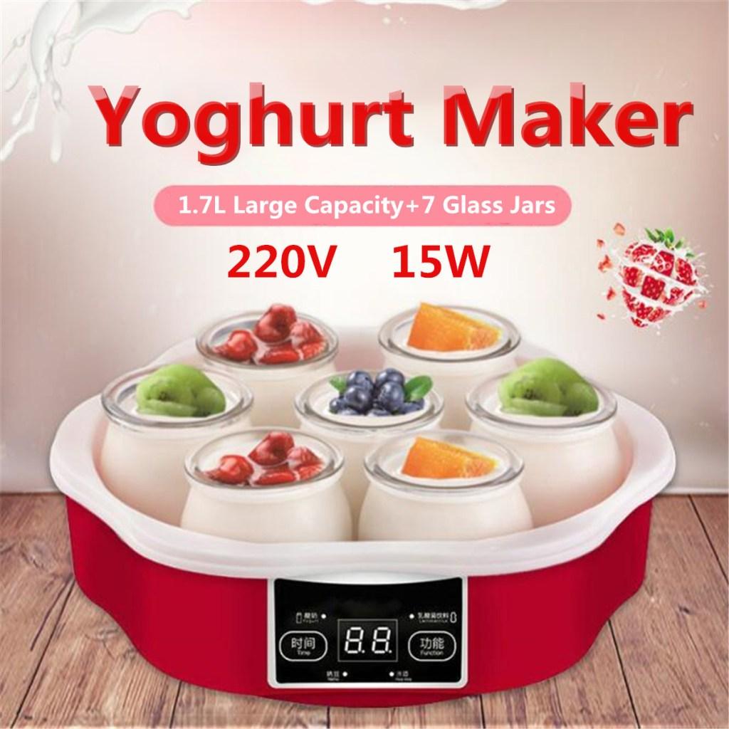 instant pot yogurt maker with 7 glass jars