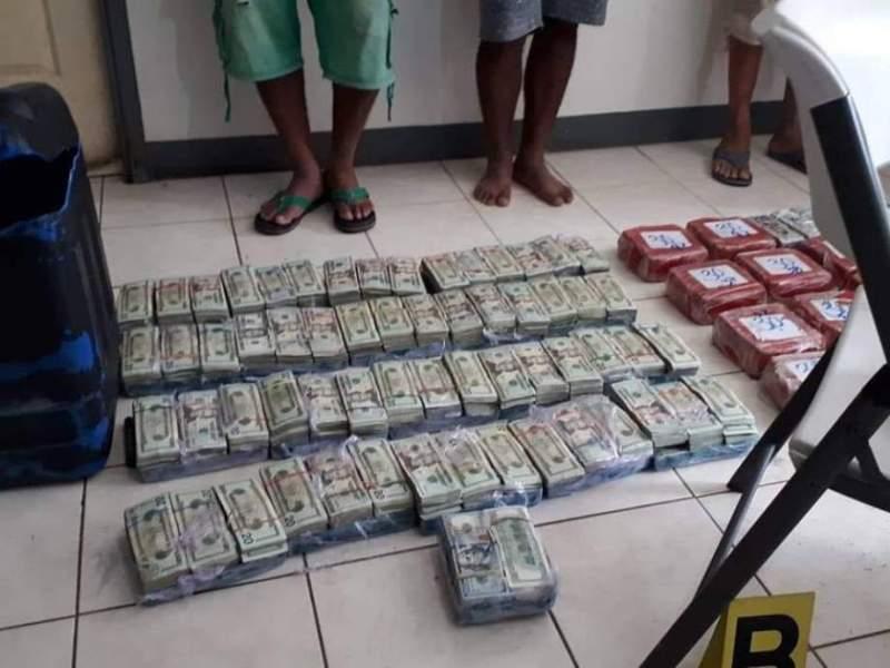 Dinero incautado narcotráfico