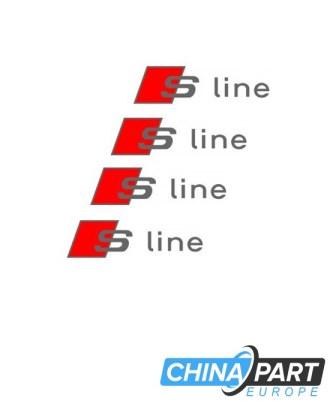 Audi S Line lipdukas (Raudonas/SIdabrinis)