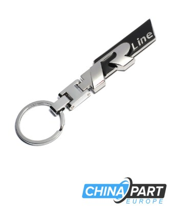 """R Line Metalinis raktų pakabukas """"Large"""" Black"""