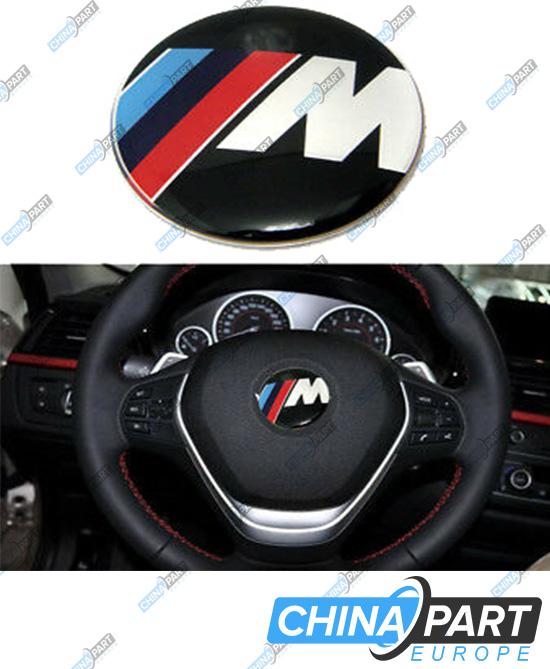 M Series M-Tech ženkliukas emblema ant vairo (Black)