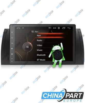 """BMW E39 X5 E53 Multimedija su navigacija 9""""coliai (Android 8.1)"""