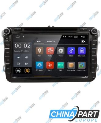 "Volkswagen Škoda Seat Multimedija su navigacija (Android 8.1)(""Upper Wheels"")"