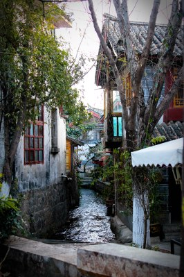 A beautiful photo of a street in Lijiang.