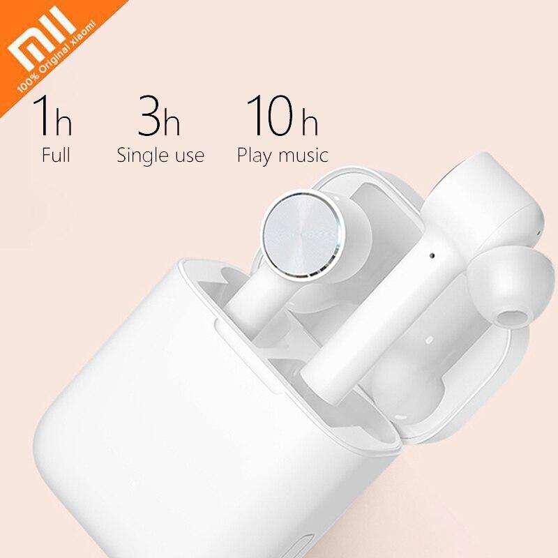 Xiaomi Air СПЦ гарнитура Bluetooth ANC переключатель ENC HD Авто пауза коснитесь Управление IPX4 Водонепроницаемый True Беспроводной стерео наушники Smart