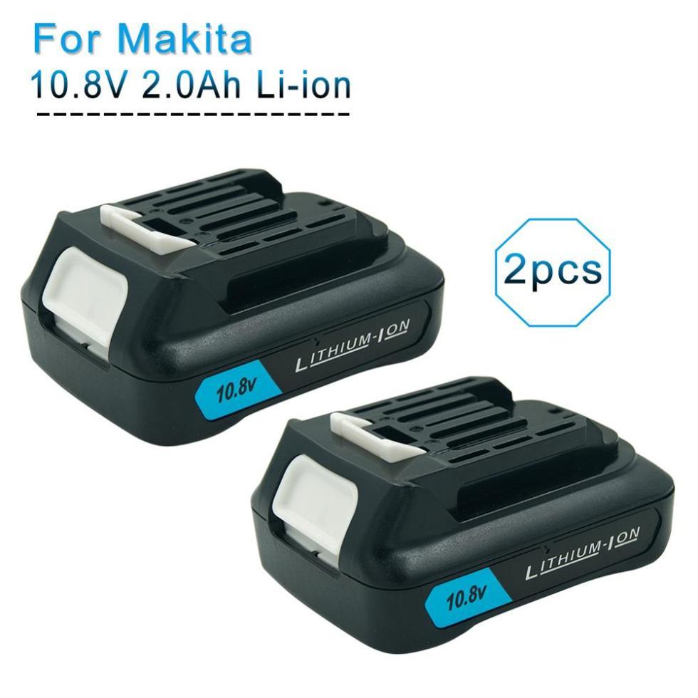 2 шт 10,8 V 12V макс 2.0Ah литий-ионная Перезаряжаемые Батарея для Makita BL1040B BL1015 BL1020B BL1041 BL1016 DF031D TD110D