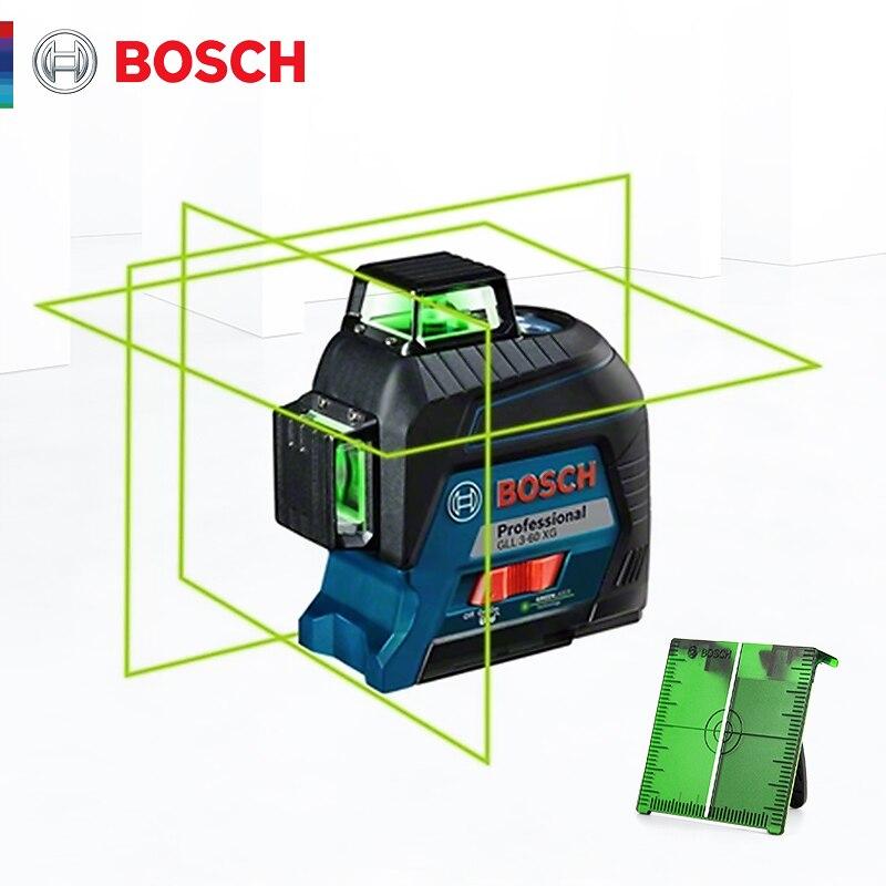 Bosch лазерный уровень 12 линий зеленый лазерный нивелир GLL3-60XG линия проекции для домашнего украшения лазерный уровень открытый доступный