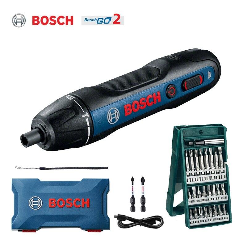 Электрическая отвертка Bosch Go 2, 3,6 В, перезаряжаемая отвертка, электрическая отвертка, посылка с дрелью