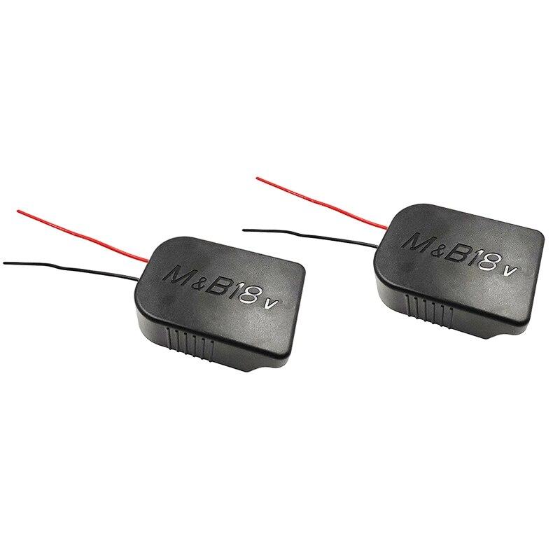 Комплект из 2 предметов Батарея конвертер адаптер Выход разъем для кабеля адаптера для Makita 18V для 18В Батарея аксессуары