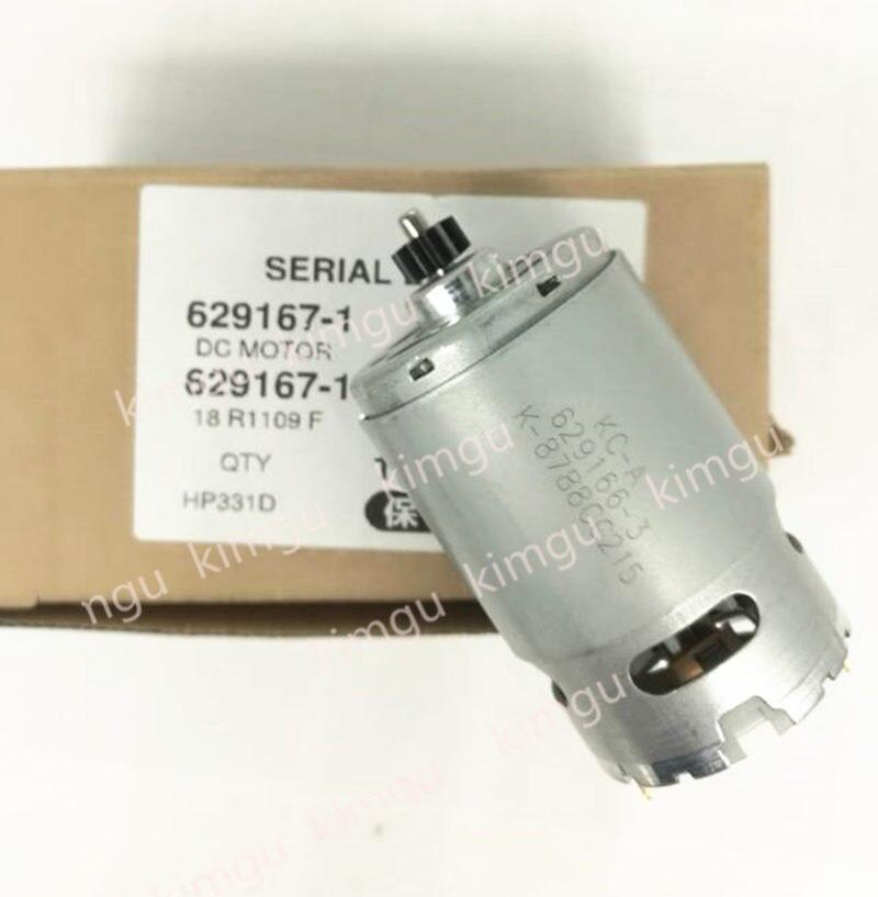 Оригинальный двигатель 629167-1 для Makita 629169-7 DF331D DF031D HP331D HP331DWE HP331Z HP331DZ