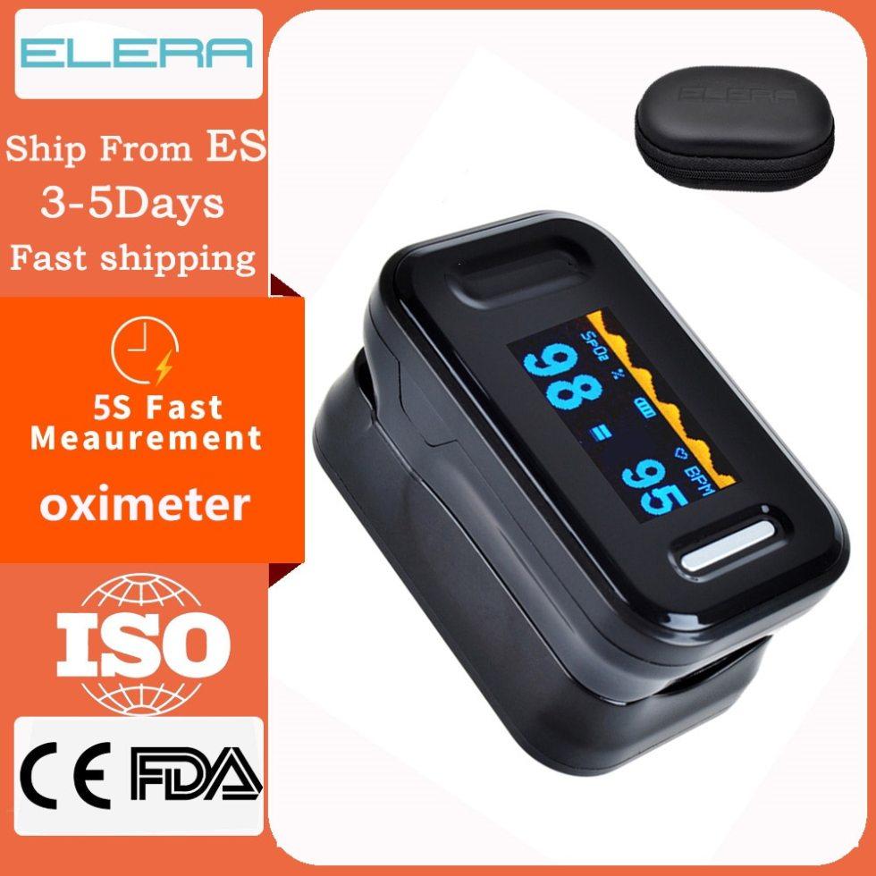 Портативный пульсометр ELERA SPO2 на палец