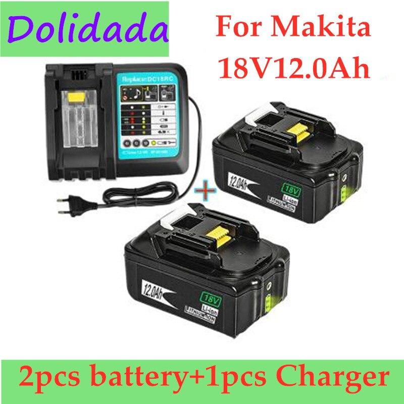 2 шт., литий-ионные аккумуляторные батареи 18 в 12 Ач