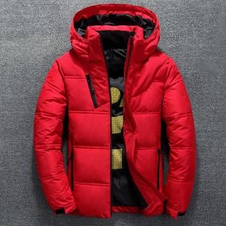 Лёгкий зимний мужской пуховик с Алиэкспресс