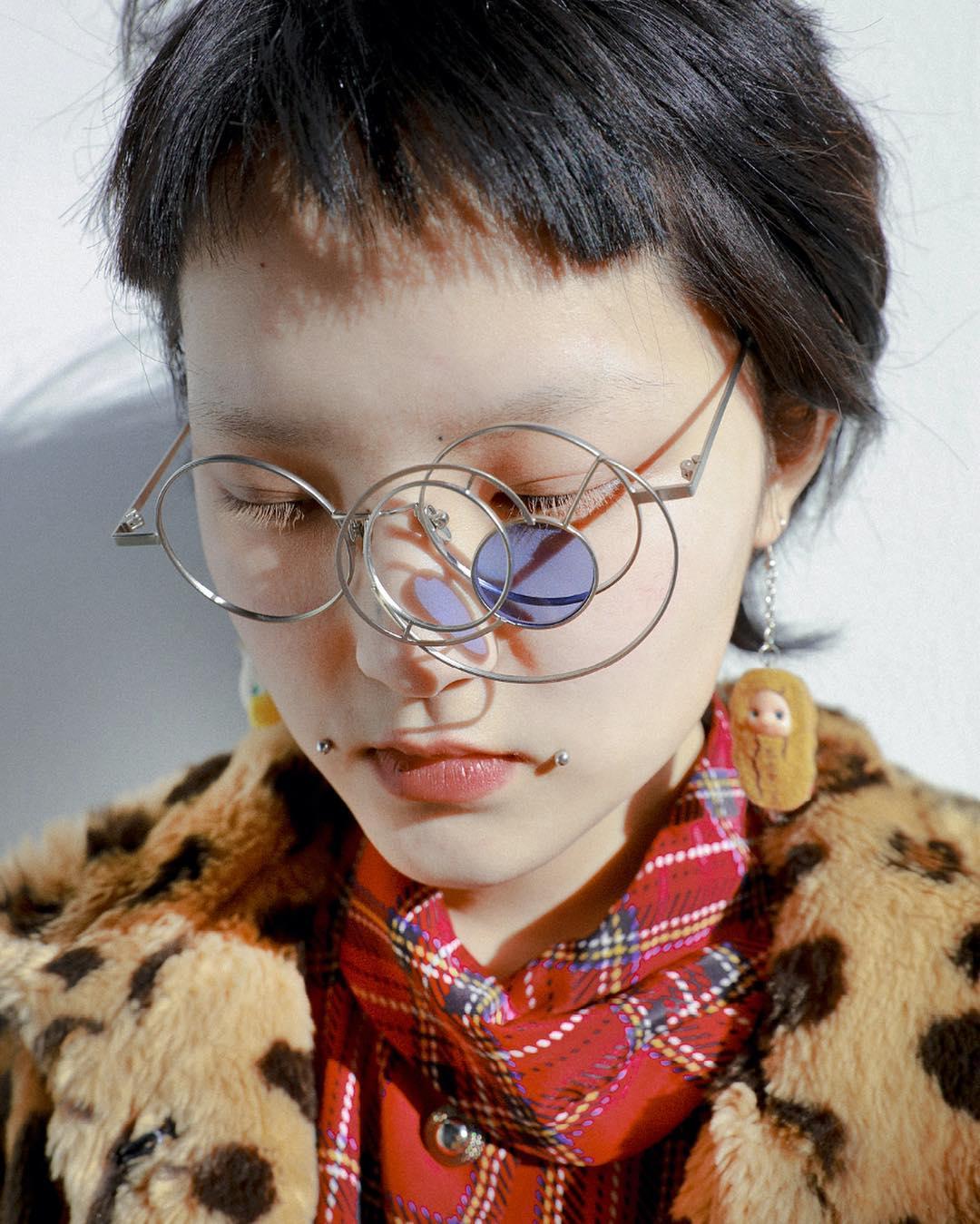 Honggang Lu Lunar Eclipse glasses. Available at Chop Suey Club NYC!