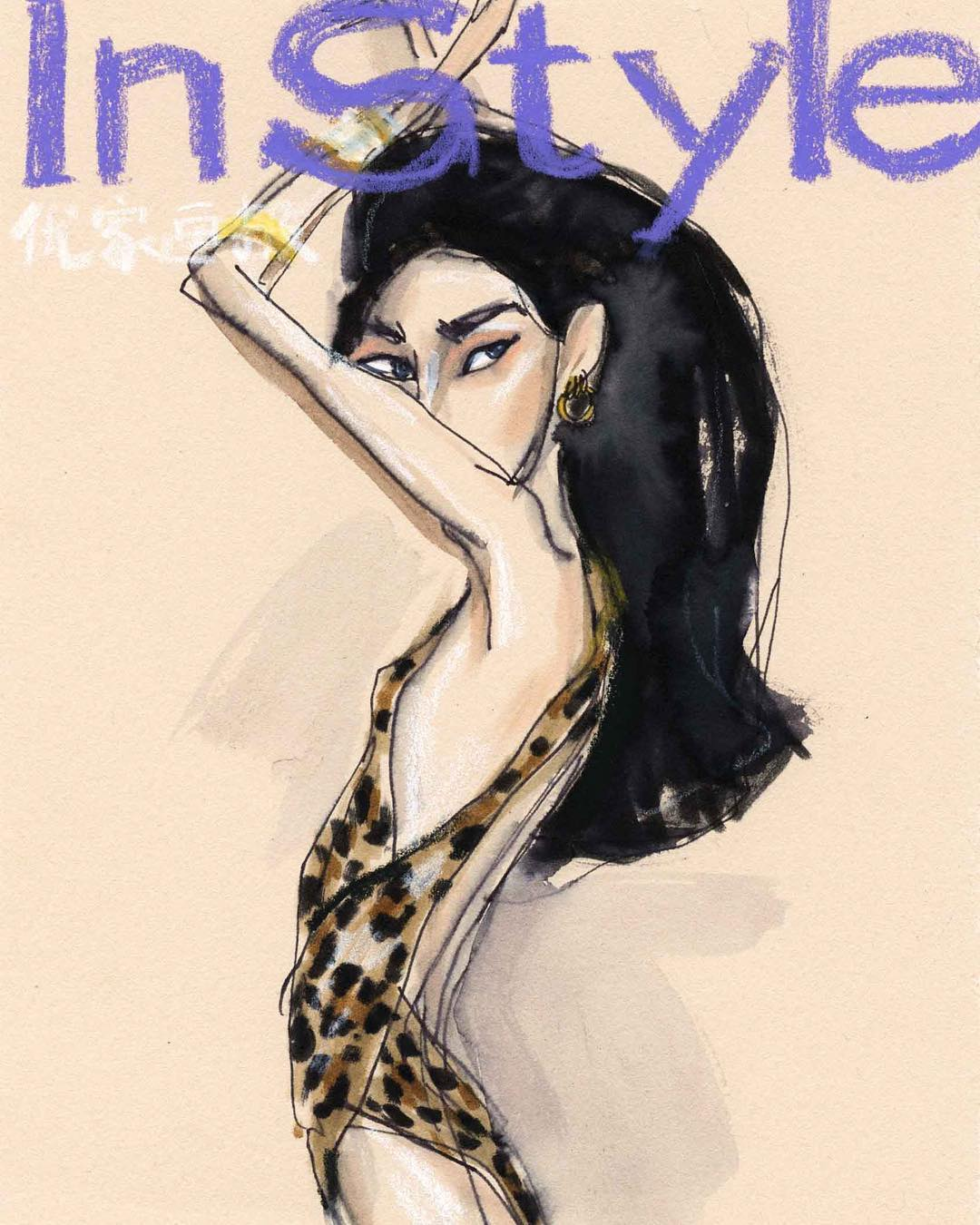 Yvan Deng X Model Ming Xi Vibes, Instyle China, 2019. All rights reserved