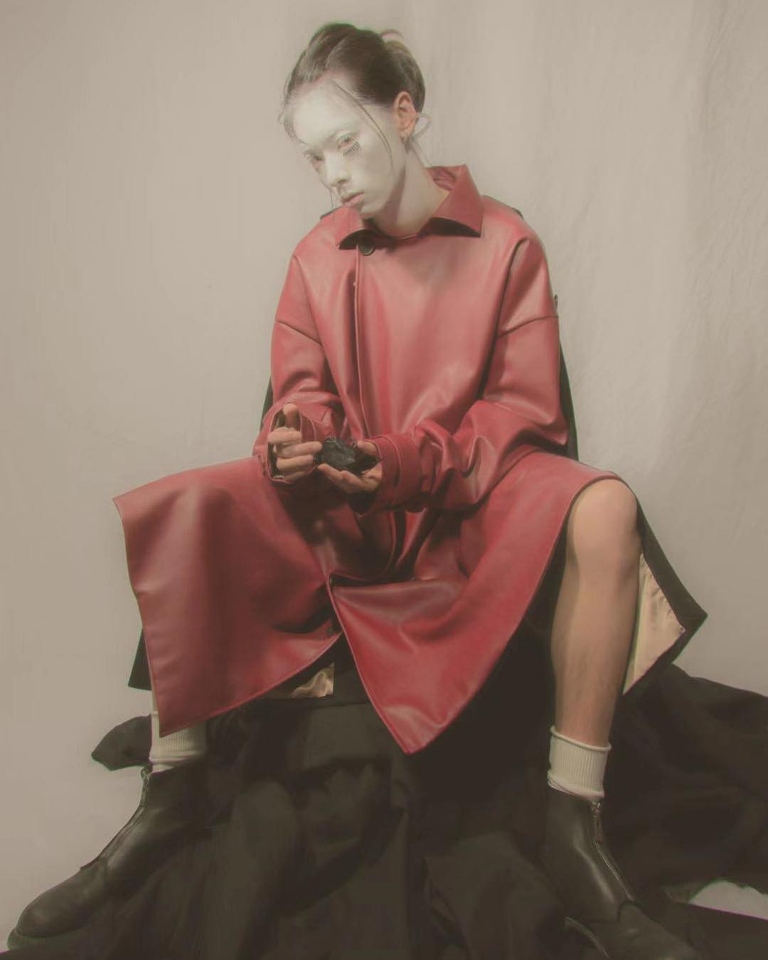 Double personality trench coat, red -- Collection II. Photography by @chill7days