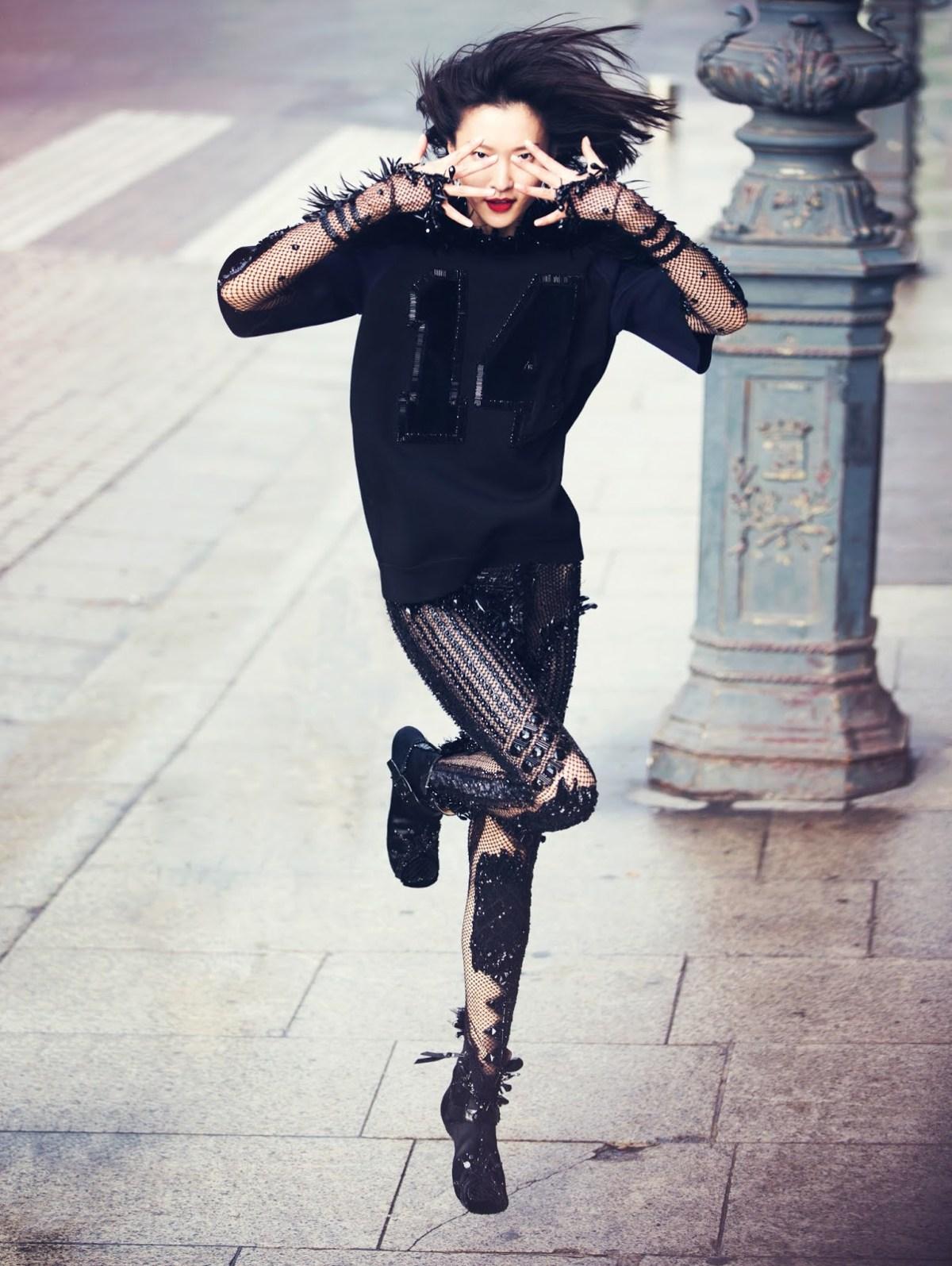 Mega model Du Juan photographed by David Bellemere for Vogue China, February 2014. Image belongs to Vogue China