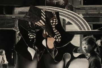 """ANTWERP COLLAGE ARTIST LEBASILLE BRINGS THE RE-CYCLED, RE-PRINTED, RE-PURPOSED BOOTY. EXCLUSIVELY CREATED FOR TEMPER MAGAZINE'S """"THE REDRESSED REVOLUTIONARY ISSUE,"""" FALL 2019. ALL RIGHTS RESERVED."""