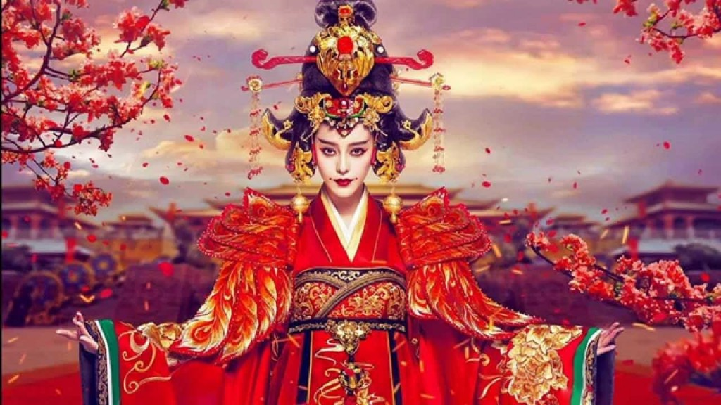 "Empress Wu Zetian (624-705) as portrayed in the 2019 Chinese hit drama series ""Empress of China"""