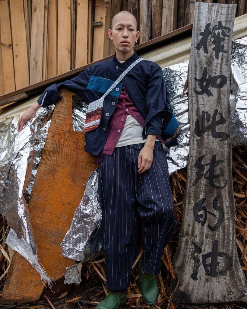 Li brocade Blet Jacket Photographer @nothingzhuang Model @hhhsasaki #INSULAiRE#ss21shuttle #黎#Li#traditionhandicraft