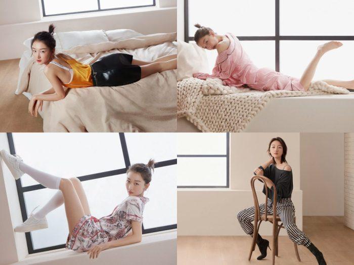 Actress Zhou Dongyu (周冬雨) for Victoria's Secret.