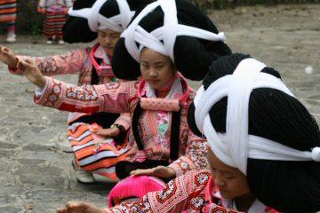 Longhorn Miao Women in Suoga Village, Guizhou province. Image: Paul Craven